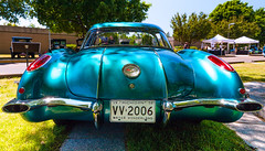 1958 Chevrolet Corvette (hz536n/George Thomas) Tags: summer copyright chevrolet canon michigan chevy canon5d corvette flint carshow 2016 ef1740mmf4lusm cs5 sloanmuseum sloanmuseumautofair