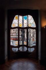 Casa Batll Interior (woody lauland) Tags: barcelona espaa window architecture spain view interior catalonia spanish gaudi catalunya es catalan casabatll antonigaudi leixample antoniogaudi architecturaldetails uploaded:by=flickrmobile flickriosapp:filter=nofilter