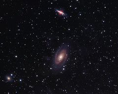M 81 & M 82 Final (Chuck Manges) Tags: cigar galaxy astrophotography astronomy bode m82 m81 refractor Astrometrydotnet:status=solved Astrometrydotnet:version=14400 at65edq qhy9m Astrometrydotnet:id=alpha20130598534783