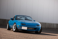 Tara's Turbo Miata (Michael Holst Photography) Tags: street blue car minnesota race canon photography michael top 14 85mm first sigma convertible automotive drop turbo mk2 5d autocross tuner mazda gen miata lowered intercooler coilovers rota tuned holst fitment stanced michaelholstphotographycom