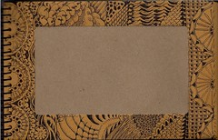 Envelope 02 Front (molossus, who says Life Imitates Doodles) Tags: honeybee midori zentangle