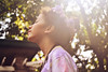 (jamiethehuman) Tags: trees light summer portrait people sun sunlight selfportrait flower love nature girl youth digital self warm natural bokeh side profile hipster young sunny indie sideview flowercrown jamiegamboa