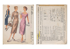 Mccalls-3743-Empire-Dress (kittymeow84) Tags: vintage pattern fifties dress top sewing skirt retro blouse 1940s 1950s custom forties garment kittysdrawings