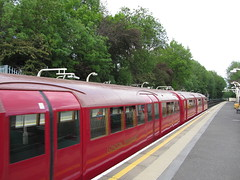 Eastcote Station (portemolitor) Tags: london station museum underground 1938 transport stock tube move vehicles londontransportmuseum eastcote hillingdon 1938tubestock vehiclesonthemove