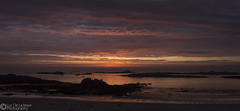 Sunset at Cobo (Luc De La Mare) Tags: sunset sea sky beach silhouette clouds canon islands dusk calm colourful guernsey channel multicolour cobo 600d