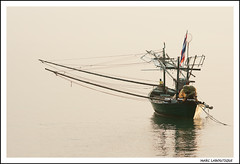 SANS CORMORAN (Marc Laboutique) Tags: sea mer golf de boat fisher asie khan bateau paysage lanscape chine thailande prachuap khiri