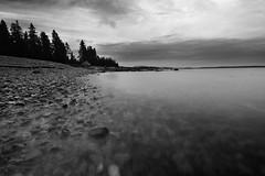 Acadia National Park 3 (gsamie) Tags: ocean longexposure light sunset sea sky blackandwhite usa seascape canon landscape rocks maine barharbor eastcoast t3i acadianationalpark 600d gsamie guillaumesamie