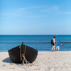 Borrbystrand (Ulf Bodin) Tags: panorama beach strand boat sweden sverige sandby båt scania borrby skånelän canonef50mmf12lusm skånegård canoneos5dmarkiii simrishamns borrbystrandbad