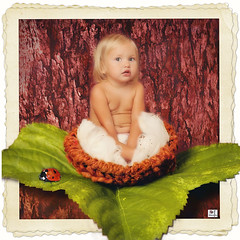 Recently Hatched (MissSmile) Tags: baby bird girl photoshop manipulated kid toddler funny child nest artistic framed memories creative oob misssmile