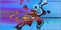 whooosh! (Marcia Portess) Tags: blue art photomanipulation abstractart digitalart multicoloured ps warped computerart imagination abstracto artedigital surrealart whooosh marciaportess picmonkey marciaaportess