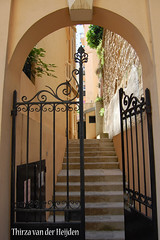 Stair in street of Monaco (Thirza78) Tags: travel urban france fence nikon stair monaco frankrijk trap hek zuidfrankrijk