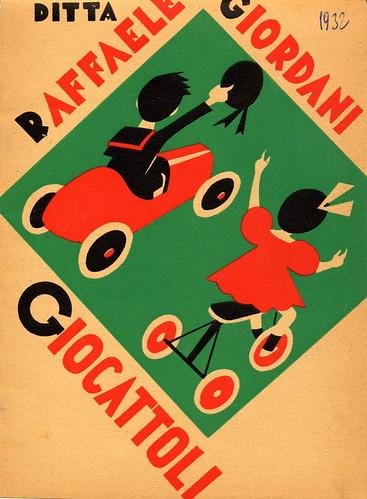 3. Copertina del Catalogo 1932 - Proprietà Famiglia Giordani