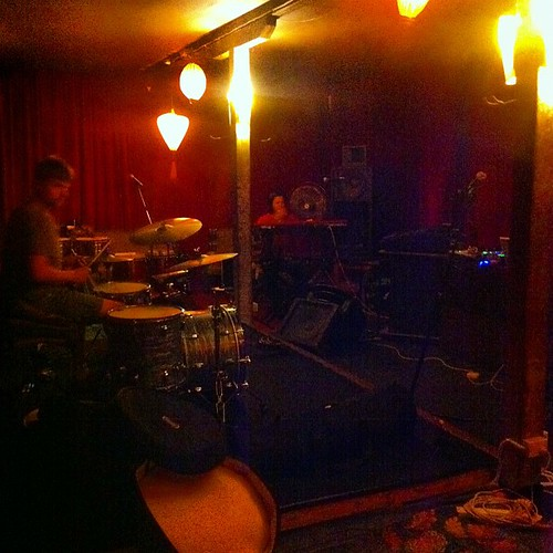Rehearsing. New stuff. For Friday. At...