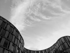16.09.2013 (myriam.kemper) Tags: sky bw cloud lines architecture himmel wolken wave architektur welle skyview minimalsim schwarzweis