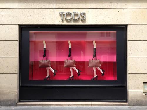 Vitrine Tod's - Paris, juin 2013