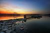 Final Destination (bing dun (nitewalk)) Tags: sunset water landscape singapore rocks pentax calm reservoir usr tbd leadinglines nitewalk upperseletar bingdun