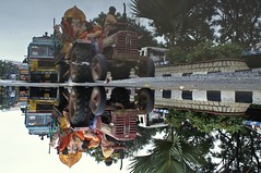 Ganesh 2013 - 1 (Rajesh_India) Tags: india elephant reflection god traditional ganesh tradition hyderabad hindu visarjan hindustani tankbund ganeshfestival 2013 hussainsagarlake