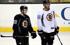 #53 Seth Griffith and #64 Bobby Robins (Odie M) Tags: hockey boston nhl bruins bostonbruins tdgarden bobbyrobins sethgriffith 2013trainingcamp