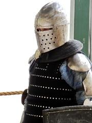 Visor (markb120) Tags: knight crusader jerusalem middleages recreation jousting personalarmor bodyarmour platearmour helmet shield visor