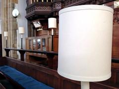 View from the Choir (rosberond) Tags: church lamp choir dof organ lampshade cromer iphone parishchurch choirstalls