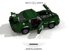 Aston Martin DB4 GT Zagato Racer - 1962 (lego911) Tags: auto birthday car model martin lego anniversary render racing db db4 gt 72 coupe 1962 challenge lemans aston 6th cad sportscar racer lugnuts povray zagato moc ldd gtz superleggera miniland lego911 lugnuts6thanniversary