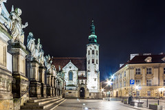 Maybe the prettiest church in Krakw Poland - St. Andrew's in the Old town, completed 1098 (Maria_Globetrotter) Tags: world city travel blue heritage tourism beautiful architecture night canon wow wonderful design amazing nice interesting europe long exposure republic humanity top capital gothic picture kirche poland polska krakow polish visit unesco clear hour polen typical incredible krakw cracow picturesque blauwe breathtaking impressive attraction heure bleue sommar kyrka arkitektur weltkulturerbe mondial patrimoine bl blaue summar welterbe uur cracov stunde timmen rzeczpospolita 650d 1585 werelderfgoed vrldsarv przyrodnicze img0895 werelderfgoedlijst verdensarven plsk dziedzictwa wiatowego repblika