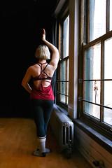Zen (KMo Foto) Tags: woman yoga studio dance grace blond zen serene strength hardwood elegance