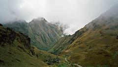 On the way up Dead Woman's pass, Inca trail, Peru (Miche & Jon Rousell) Tags: mountains peru southamerica ruins cusco llama pass machupicchu urubambariver incas deadwomanspass