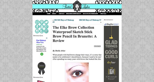 "The Elke Brow Collection Waterproof Sketch Stick Brow Pencil In Brunette  A Review « Painted LadiesPainted Ladies • <a style=""font-size:0.8em;"" href=""http://www.flickr.com/photos/13938120@N00/11384385543/"" target=""_blank"">View on Flickr</a>"