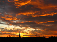 IMG_8580 b (Traud) Tags: sunset red silhouette clouds sonnenuntergang laufen salzach stepple