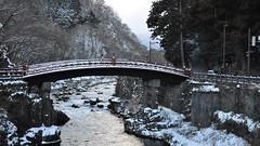 Shinkyo, The Sacred Bridge, Nikko (David McKelvey) Tags: world bridge winter snow heritage japan nikon shrine unesco sacred nikko 2010 futarasan d5000 shinkyo