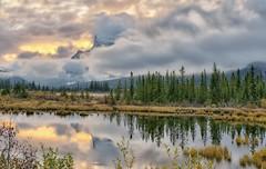 Rundle Wrap (Phil's Pixels) Tags: sunset canada reflections sundown stormy alberta banff mtrundle vermillionlakes
