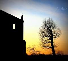 silenzi dell'anima (Anche*) Tags: silhouette tramonto anche silenzio abbaziadimorimondo