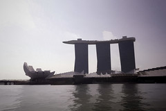 The ArtScience musuem and the Marina Bay Sands resort in Singapore (Ashish A) Tags: trees sky cloud building tree tourism clouds buildings asian hotel singapore asia waterfront bluesky structure resort touristattraction cloudysky threetowers 3towers cloudsinsky marinabaysands marinabaysandsresort marinabaysandshotel artsciencemuseum sandsskypark towersofmarinabaysands viewofmarinabaysandsfromwater 3towersofmarinabaysands touristattractionsofsingapore buildingshapedlikealotus