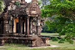 Left Library of Angkor Wat (Patumraat) Tags: world old travel holiday building tourism architecture wonder thailand temple ancient cambodia vishnu god religion ruin culture buddhism siem classical civilization wat hindu asean reise reab