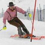 Mike Janyk makes his final slalom at the Canadian Senior Nationals                PHOTO CREDIT: Gordon Kwong