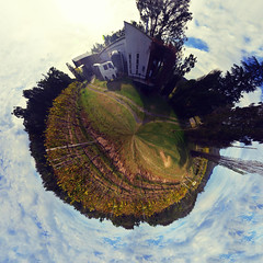 Wandering Star (eeehhhyyy) Tags: blue trees sky panorama plants nature outdoors star vineyard cool natural image earth atmosphere australia 360 full amateur stitched wandering rendering planat stantrope