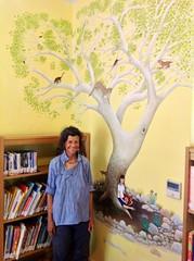 library (chiricahua sky island) Tags: mural cochisecountyarizona portalarizonalibrary myrtalkraftlibrary