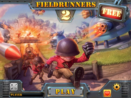 Fieldrunners 2 Main Menu: screenshots, UI