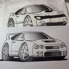Just a test print to check... (Nori Toy) Tags: illustration design drawing rally halftone screenprinting toyota awd jdm celica gtfour instaart alltrac instalove igaddict igdaily instagood instaartist uploaded:by=flickstagram instagram:photo=64868653197797169712987080