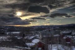 Røros 2015 II (Ana Jones do Carmo) Tags: sunset snow norway clouds landscape norge røros hdr 3xp