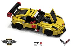 Chevrolet Corvette C7.R Racer (lego911) Tags: auto two usa chevrolet sports car america model gm lego general render motors american series usc custom eastern coupe tale challenge lemans v8 rivals 87 cad sportscar racer lugnuts rebels povray alms chev moc 2014 ldd c7 miniland chvy c7r lego911 ataleoftworivals