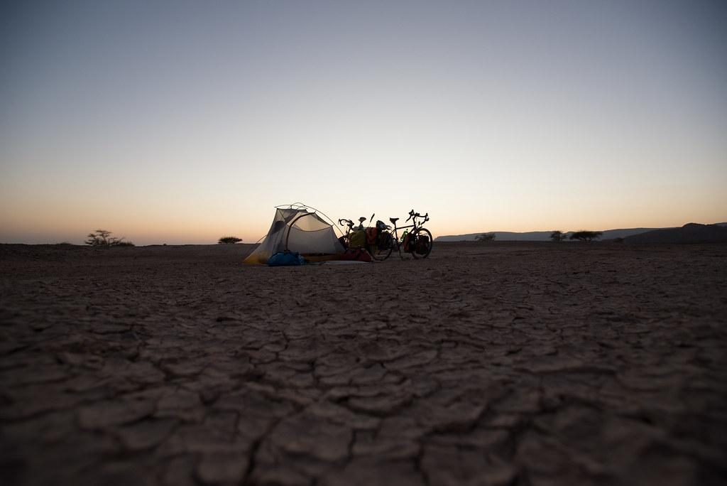 Dry mud campsite