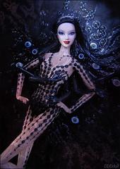 Black (dddDolls) Tags: black sexy model paint body barbie lea basics no5