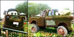 HTT! HAPPY TRUCK THURSDAY! (Visual Images1) Tags: two green epcot diptych topiary disney htt picmonkey happytruckthursday