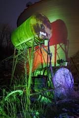 Green Fuel Tank (Notley) Tags: blue winter light red lightpainting green night midwest tank farm january silo missouri greenlight redlight nocturne bluelight bucolic fueltank grainsilo boonecounty 2016 corrugatedsteel 10thavenue notley redtank ruralphotography ruralusa boonecountymo notleyhawkins missouriphotography httpwwwnotleyhawkinscom notleyhawkinsphotography farmatnight rgblightpainting