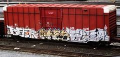 beer -- fixer (timetomakethepasta) Tags: beer train graffiti ns norfolk southern boxcar pbj freight bk fixer
