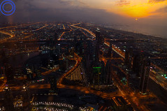 Dubai (UmangDesai) Tags: sunset composite skyline night dubai burjkhalifa