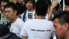 5-15-2016_Demonstration_MPA_17 (macauphotoagency) Tags: china new money streets outdoors university chief police government block macau demonstrations executive sai donations association chui macao on may15 protestants policeforce 5152016 newmacauassociation insatisfation