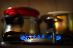 What's cooking today..? (petrapetruta) Tags: blue kitchen fire pots